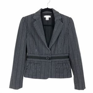 White House Black Market long sleeve button blazer